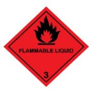 Hazard safety sign - Flammable Liquid (3) 035